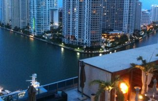 Best Hotels to stay during Art Basel in Miami 5 my view from the balcony of my fabulous suite at the fantastic epic hotel in miami 324x208