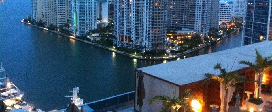 Best Hotels to stay during Art Basel in Miami 5 my view from the balcony of my fabulous suite at the fantastic epic hotel in miami 944x390