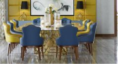 velvet dining chairs, leather dining chairs, design dining chairs, blue dining chairs, green dining chairs, Modern dining chairs , luxury dining room, modern dining room  Top 15 Modern Dining Chairs for a luxury dining room cover10 238x130