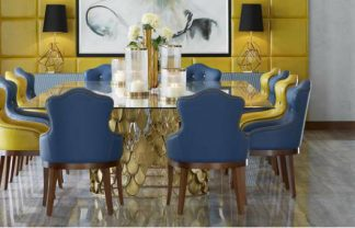velvet dining chairs, leather dining chairs, design dining chairs, blue dining chairs, green dining chairs, Modern dining chairs , luxury dining room, modern dining room  Top 15 Modern Dining Chairs for a luxury dining room cover10 324x208