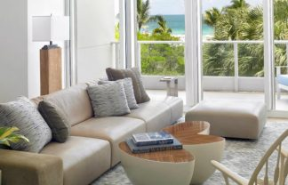 Modern Miami Beach home Modern Miami Beach Home with Coastal Inspiration 1465852303 living towards view final 324x208