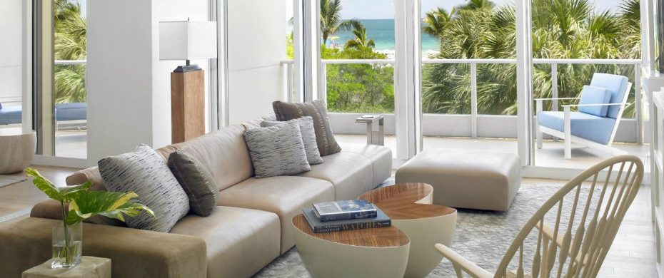 Modern Miami Beach home Modern Miami Beach Home with Coastal Inspiration 1465852303 living towards view final 930x390