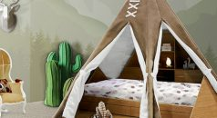 kids bedroom SALONE DEL MOBILE 2017: EXPLORE THE CHILDWOOD KINGDOM WITH CIRCU teepee room ambience circu magical furniture 01 1 238x130